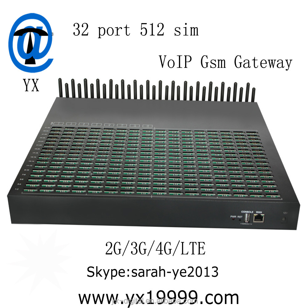 Voip 32/512 ports gsm gateway goip 512 sim cards with good ASR AND ACD