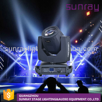 Professional Wedding Stage Lighting 7A Fuse Dmx512 Control 200W Beam Moving Head Light Sharpy 5R Light