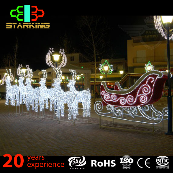 new style christmas 3D reindeer motif lights/outdoor use led motif lighting