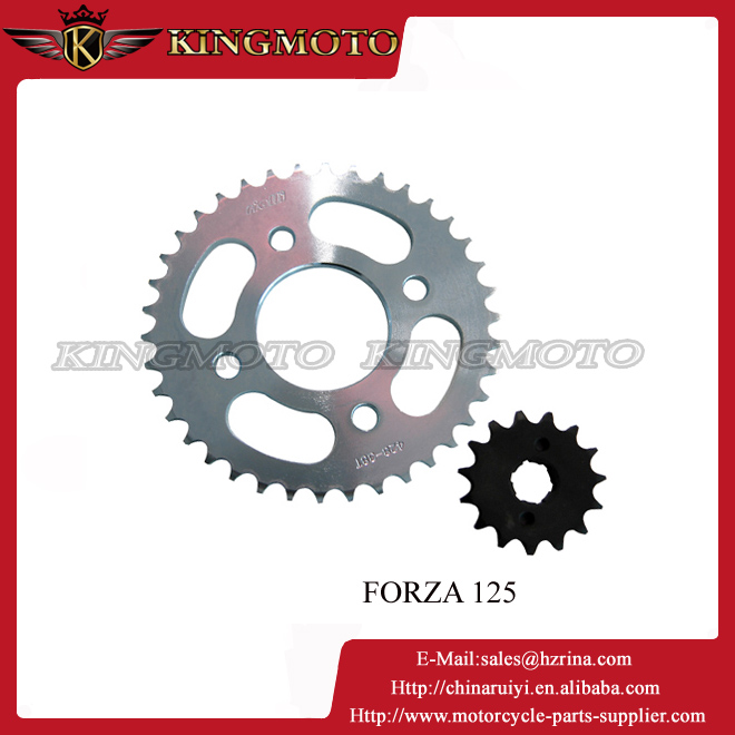 2015 China high quality stainless steel 304 motorcycle CD 70 chain sprockets