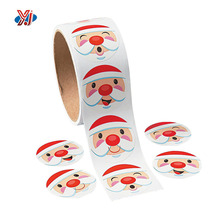 Lovely window snow decorative paper christmas adhesive sticker