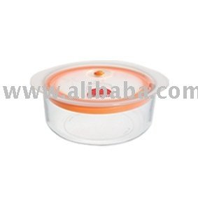 Food storage glass container 900ml