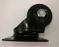 2 inch PP Wheel Black Bracket Swivel Furniture Caster Wheel
