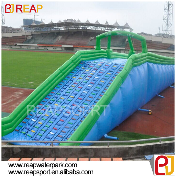 Giant Inflatable Slip N Slide, Inflatable City Slide, comercial long fun water slide