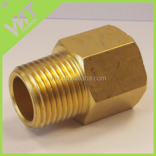CNC machinery custom BSP-NPT adapters , male BSPT to female NPT extent in brass , adaptor for filling