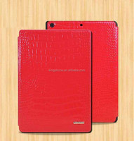 High-end crocodile genuine mobile phone leather case for ipad 5