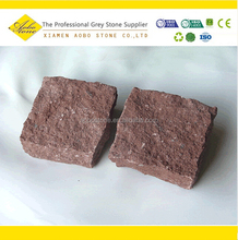 Natural split Red granite paving stone, granite block for sale