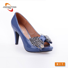 women dress shoes blue elegant party footwear ladies shoes hills