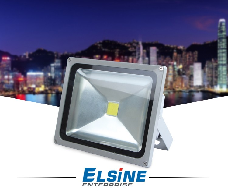 Super bright Ground series 30W COB LED Flood light 110-240VAC IP65 waterproof outdoor lighting with PIR Sensor