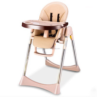 EN14988 Plastic Material Baby Infant Feeding Highchairs Wholesale China Kids Chairs Adjustable Folding Baby Dining High Chair