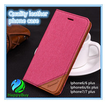 Top selling PU leather wallet case luxury protective armor defender flip phone case for iphone 6/6s/6 Plus/6s Plus/7/7 plus