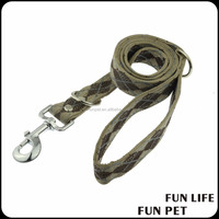 Strong natural canvas pet lead camouflage dog leash for walking running