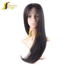 Hot sale 200% density full lace wigs for bald men,kinky straight half wig cap in stock,swiss lace wig ful