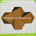 decorative design pentagon shape printed bulletin cork board
