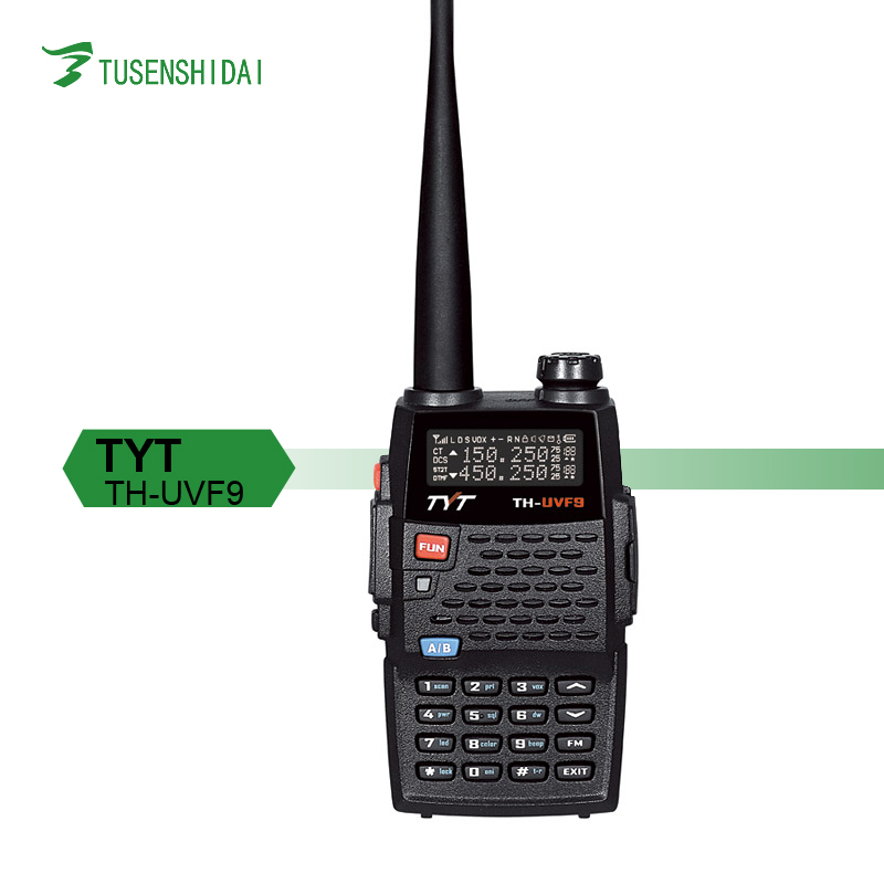 5W Walkie Talkie Dual Display 136-174MHz/400-470MHz tri-Band Wireless Two Way Radio for TH-UVF9D