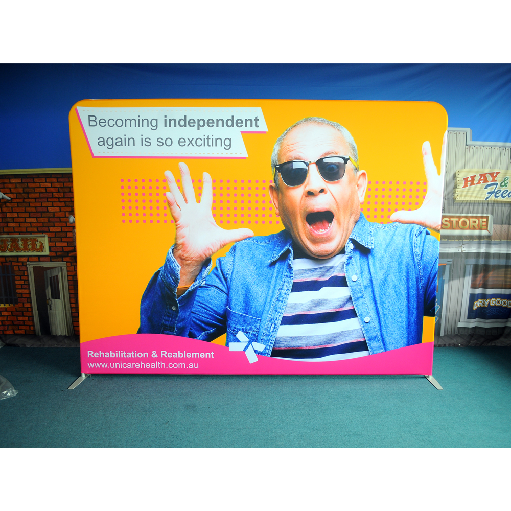 Factory Wholesale Price Booth Tension Fabric Tube Display Backdrop Wall For Trade <strong>Show</strong>