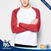 Shandao Manufacturer Summer New Design Long Raglan Sleeve Multi Colors 160g Custom Made Basic Plan Fashion T Shirt
