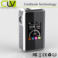 carbon fiber 18650 2200mAh 1.77inch screen SMY60 60W manchester electronic cigarette wholesale