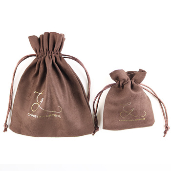 Hot sale custom faux suede jewelry pouch gift bag