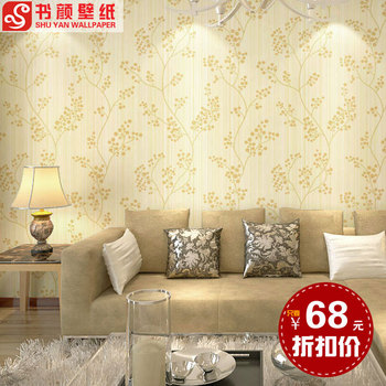 European-style garden flower PVC bedroom living room TV backdrop study dormitory red and other colors Zihei -3d wall paper des