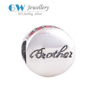 Brother charm,fashion charm silver wholesale beaded jewelry