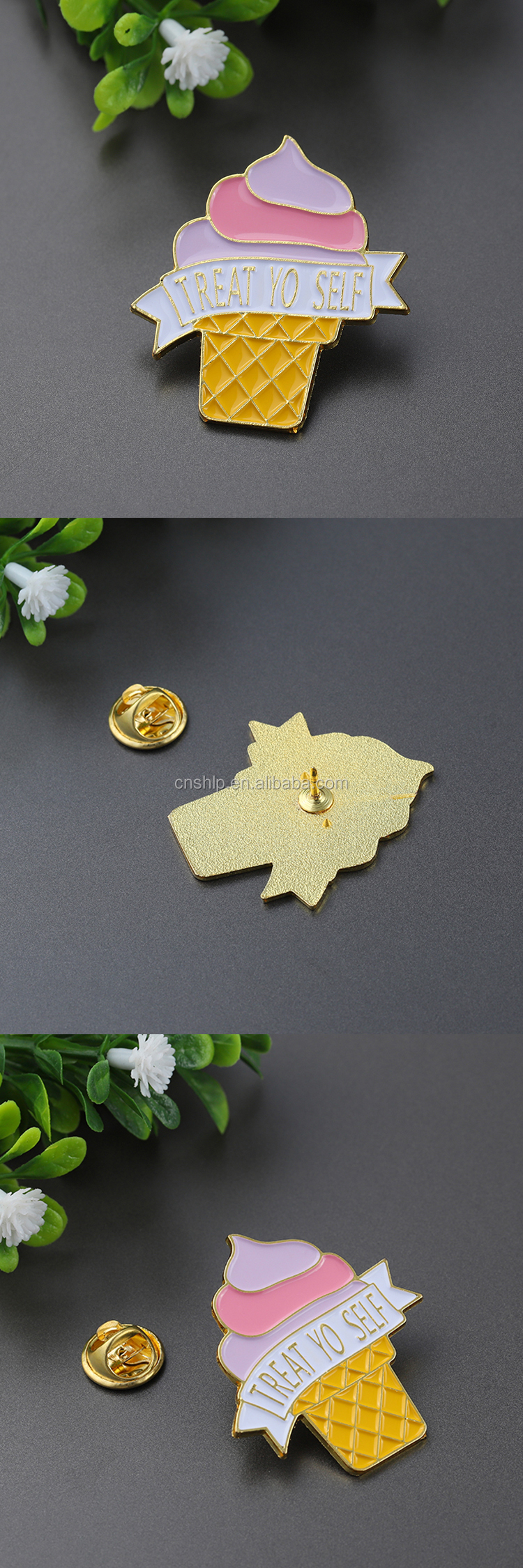 Factory making promotional ice cream lovely soft enamel lapel pins