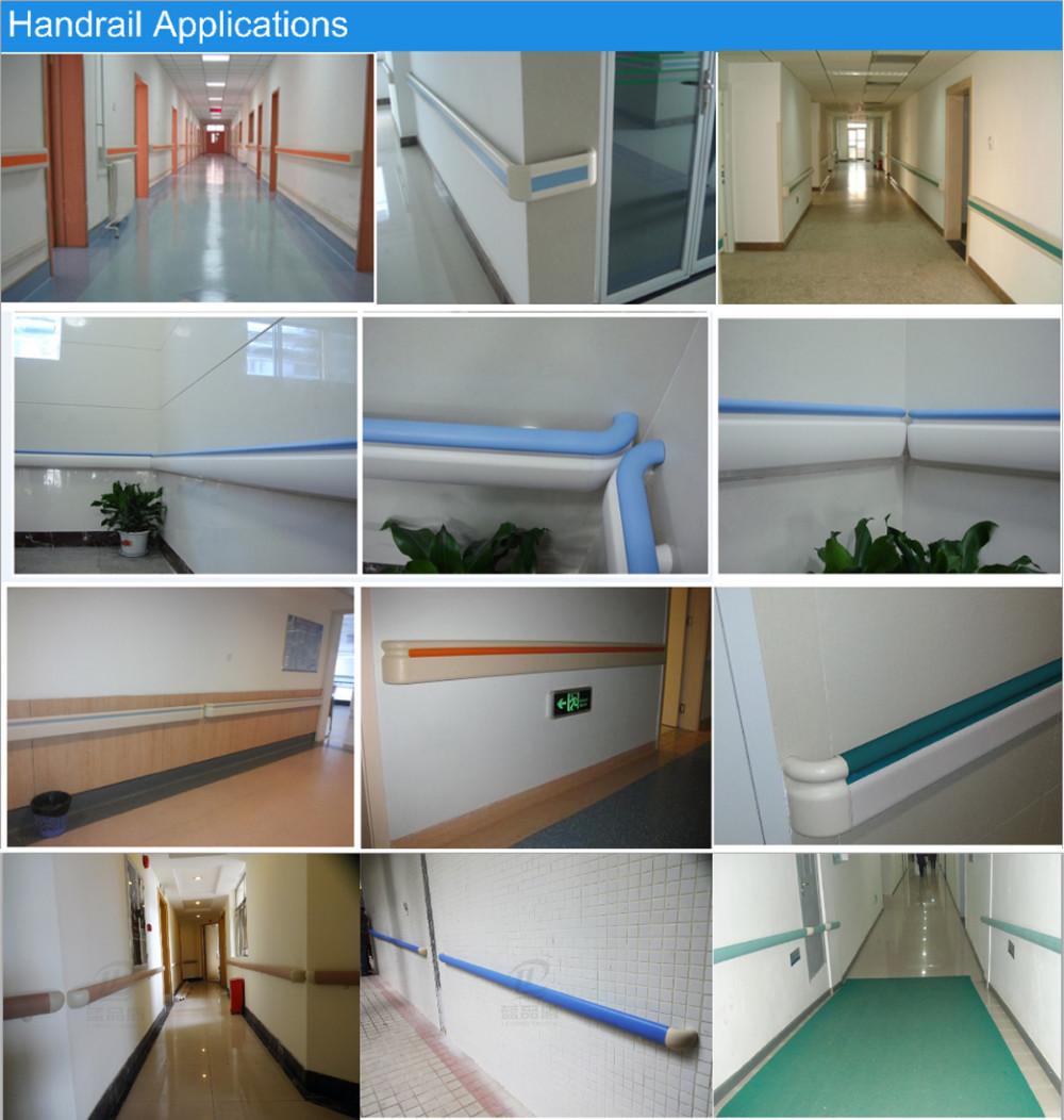 Pvc Wall Handrails : Pvc wall bumper guard for hospital handrail stairs
