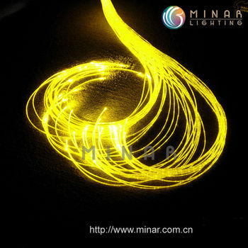 side glow fiber optic cable, no cover outside, SSOF-1*0.75