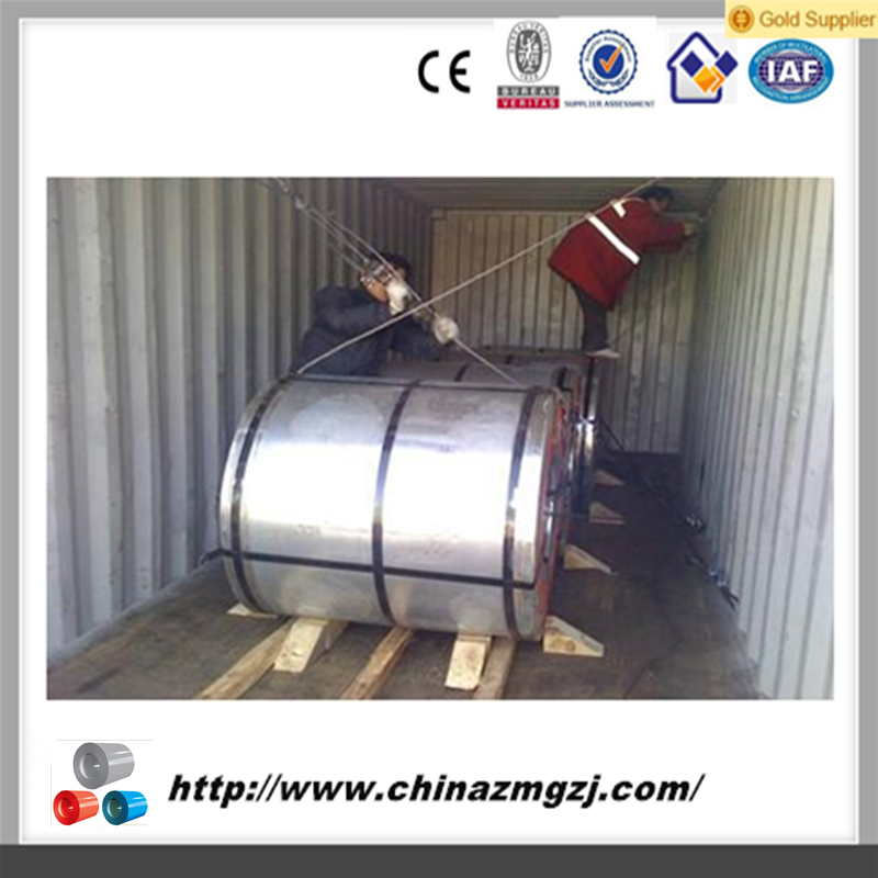 various colors and zinc rate galvanized color coated steel coil / roofing sheet material steel coil