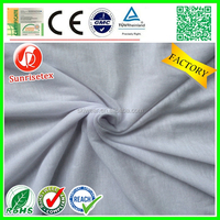 Hot sale breathable knitting spun polyester fabric for t-shirt