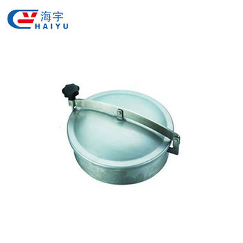 SS304 SS316 Sanitary Round manhole cover without pressure