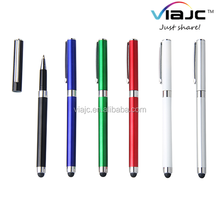 Plug push stylus metal ball point pen for iphone6s
