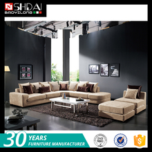 Great quality cheap prices modern designs fabric corner sofa set