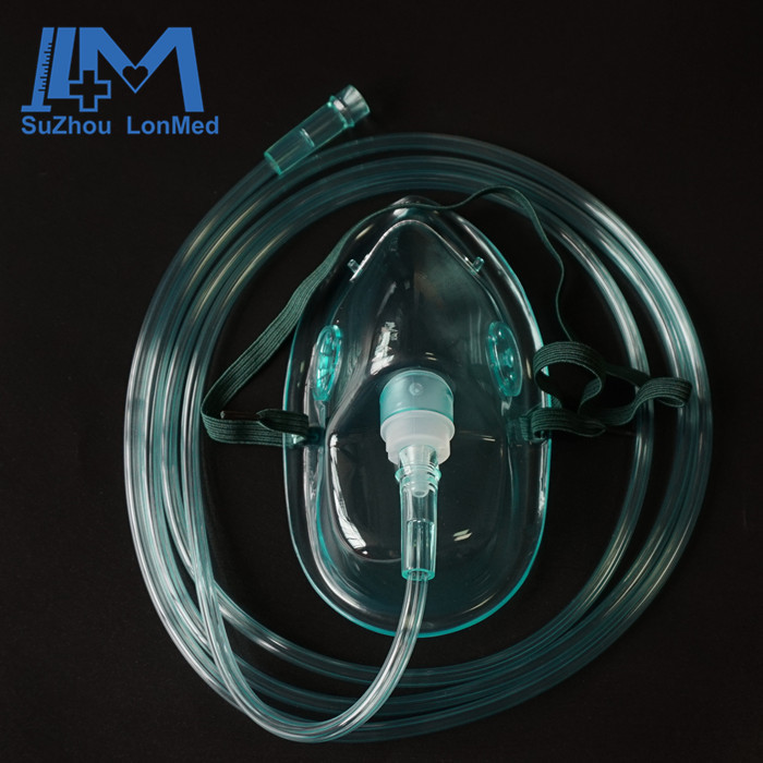 High quality portable latex free soft oxygen mask for adult / pediatric / infant