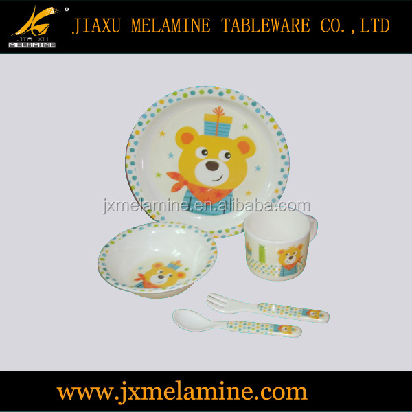 5pcs melamine ware kid's dinner set