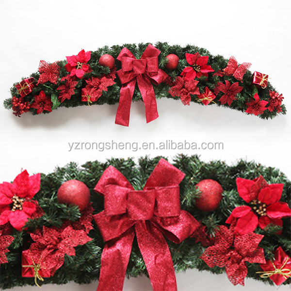 New style wholesale artificial christmas grave wreaths decoration for sale