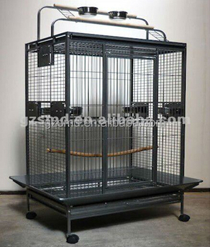 Chinese Bird Cage Manufacturer Produce Large African Grey Wought Iron Cage Parrot