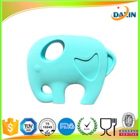 Cheap Silicone Baby Teether Elephant Chew Toy Baby Teething Pendant