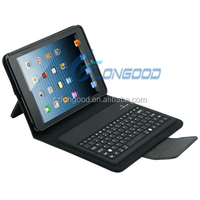 Stand PU Leather Case Cover with Bluetooth Keyboard for iPad Mini