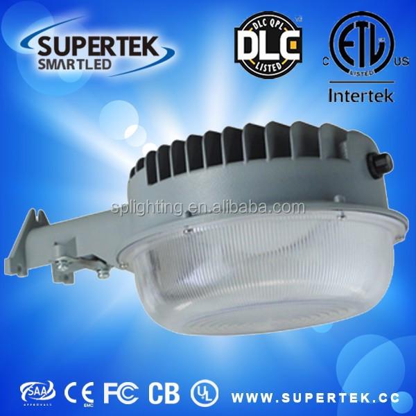 UL DLC 50W 6500lm led dusk to dawn outdoor barn light yard light country road light