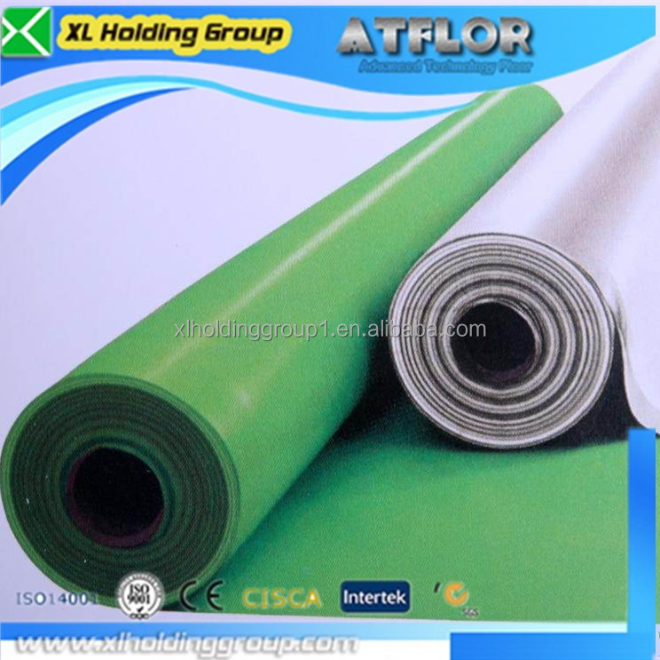 factory homogeneous pvc flooring for sport volleyball court
