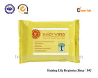 Disposable sunscreen wet wipes/tissues/towels whitening skincare products