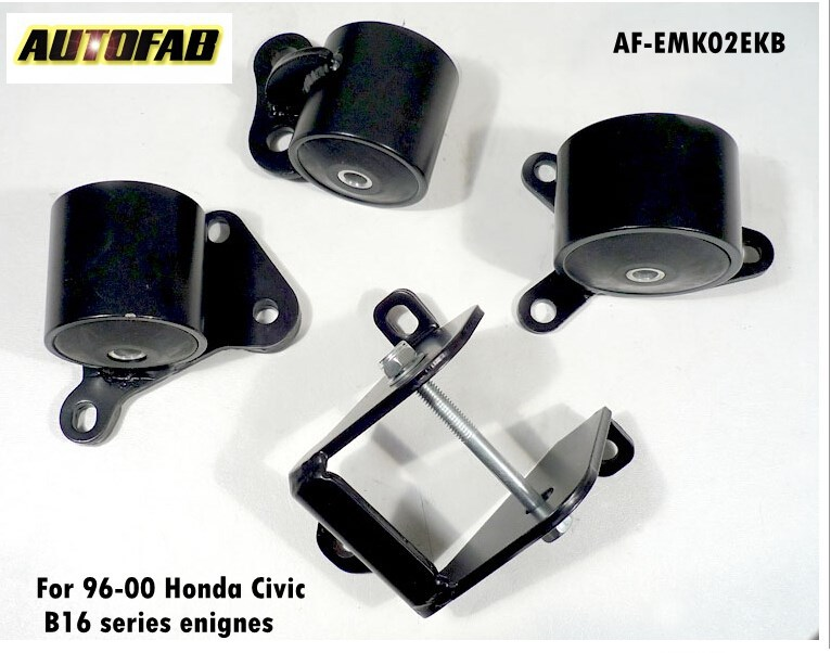Engine Mount Kit / Swap Motor Mounts For Honda Civic 96-00 B16 B18 B-SERIES AF-EMK02EKB