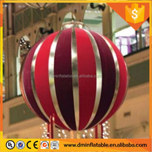 hanging decoration/christmas inflatable snowman/ball with led light