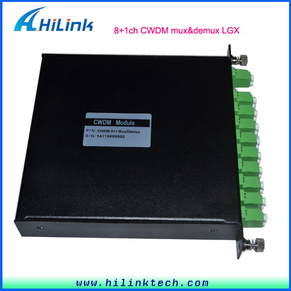 Optic Fiber 8 Channel CWDM Multiplexer with x=Express Port