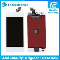 Wholesale touch screen digitizer replacement parts display assembly original lcd for iphone 5