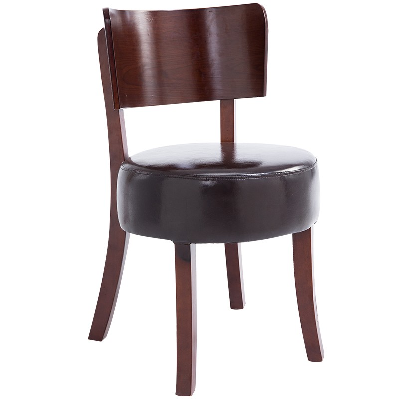 704 Antique Style <strong>Hard</strong> <strong>Wood</strong> Frame Chair Sophisticated Faux Leather Upholstery Dining Set Home Furniture