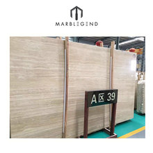 Wholesale natural stone roman beige travertine marble slab price