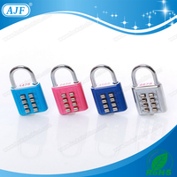 AJF High quality and security colorful 8 Buttons Case Combination Padlock