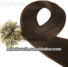 "Hot selling 18"" 4# silk straight 100% Indian remy hair U-tip keratin hair extension, accept paypal & escrow"
